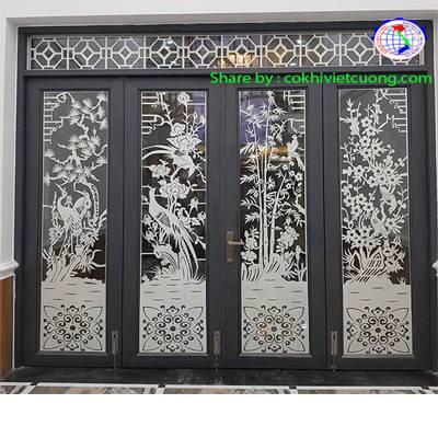 cửa sắt mỹ thuật cnc đẹp