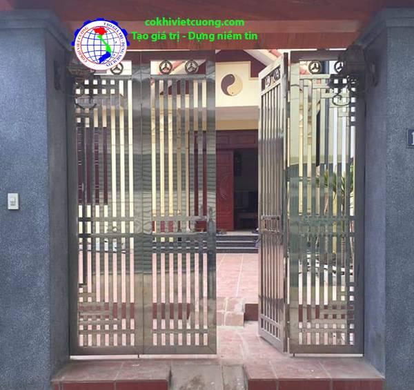 cổng inox 4 cánh đẹp