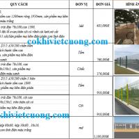 Báo giá hàng rào lưới thép hàn