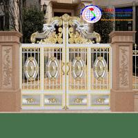 Cửa cổng inox màu