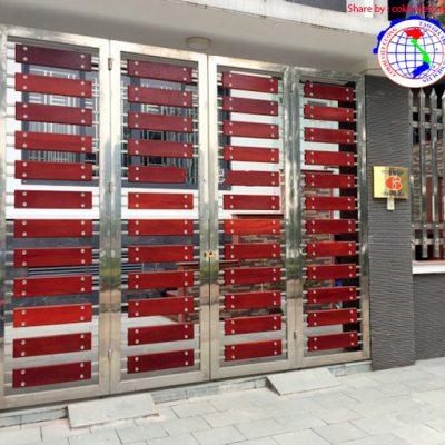 Tổng hợp 50 mẫu cửa cổng inox đẹp hiện đại