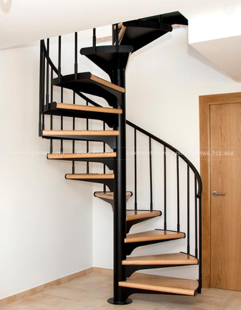 Cầu thang xoáy có tính thẩm mỹ cao